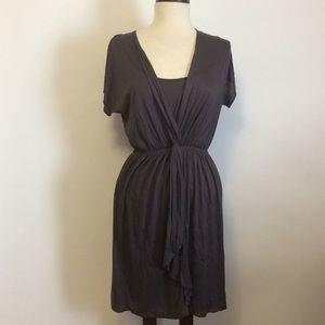 LOFT Gray Stretchy Dress Sz S